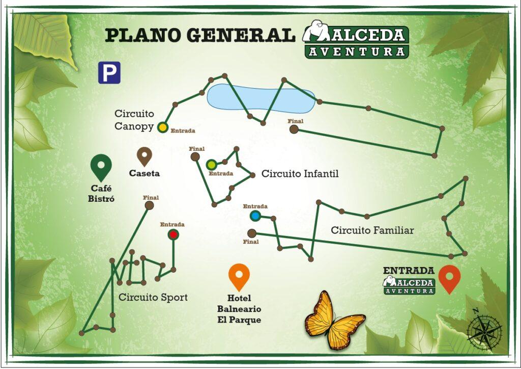 plano general de Alceda Aventura